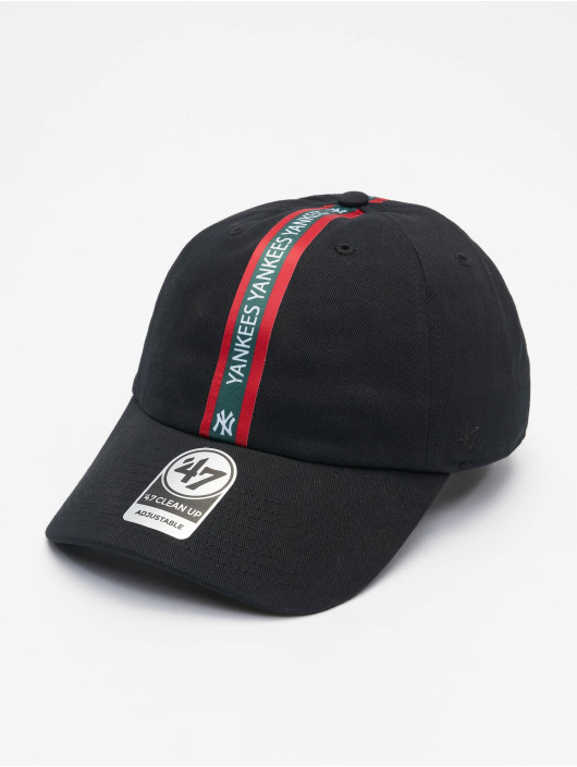 47 Brand Snapback Cap New York Yankees Trip Stripe Clean Up schwarz