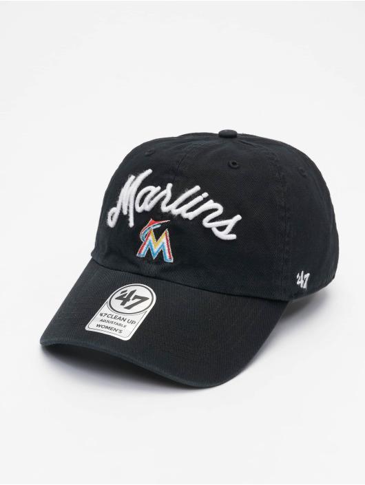 47 Brand Snapback Cap Marlins Melody Clean Up schwarz