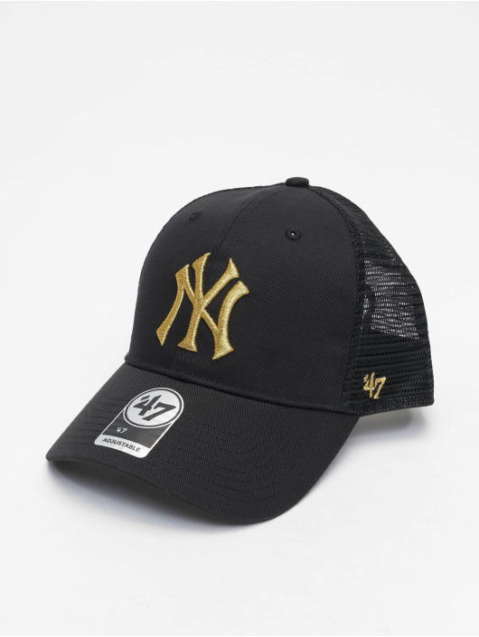 47 Brand Snapback Cap MLB New York Yankees Branson Metallic MVP schwarz