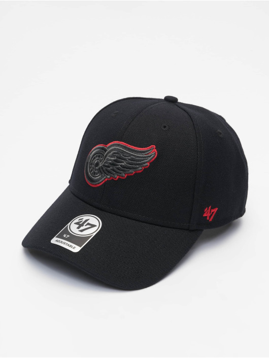 47 Brand Snapback Cap NHL Detroit Red Wings MVP schwarz