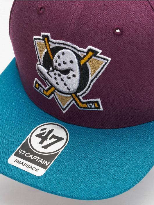 47 Brand Snapback Cap NHL Anaheim Ducks No Shot Captain violet