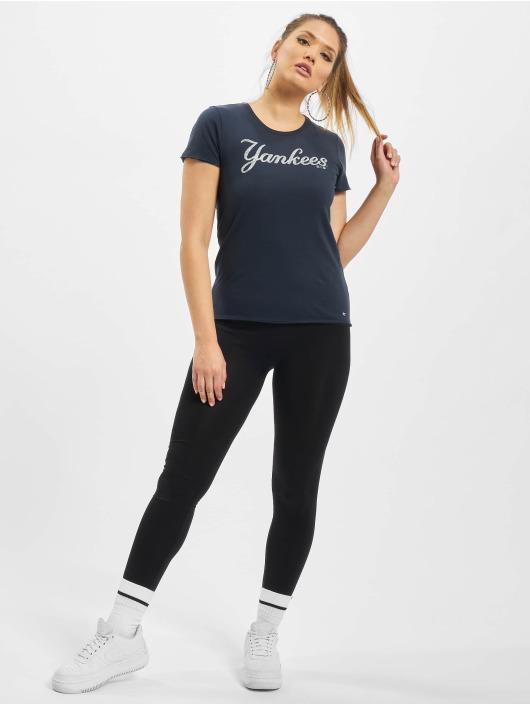 47 Brand T-Shirt Mlb Yankees Knockaround Letter blau