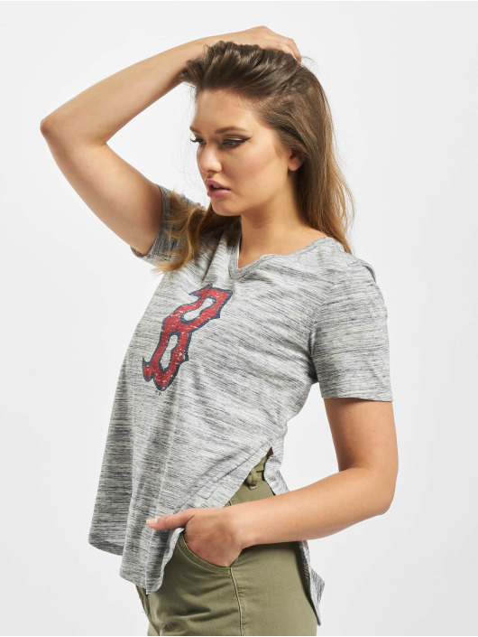 47 Brand T-Shirt MLB Red Sox Haze Split Hem blau