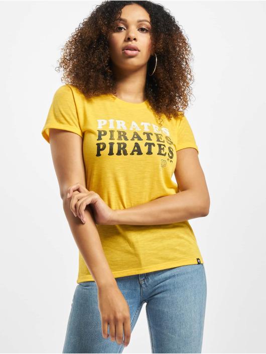 47 Brand T-Shirt Mlb Pirates Trio Match Triblend Hero gelb