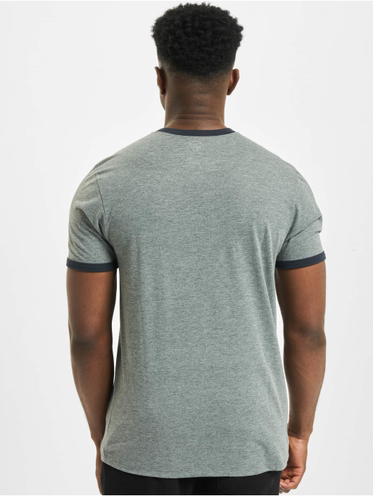 47 Brand T-Shirt MLB Dodgers Capital Ringer grau