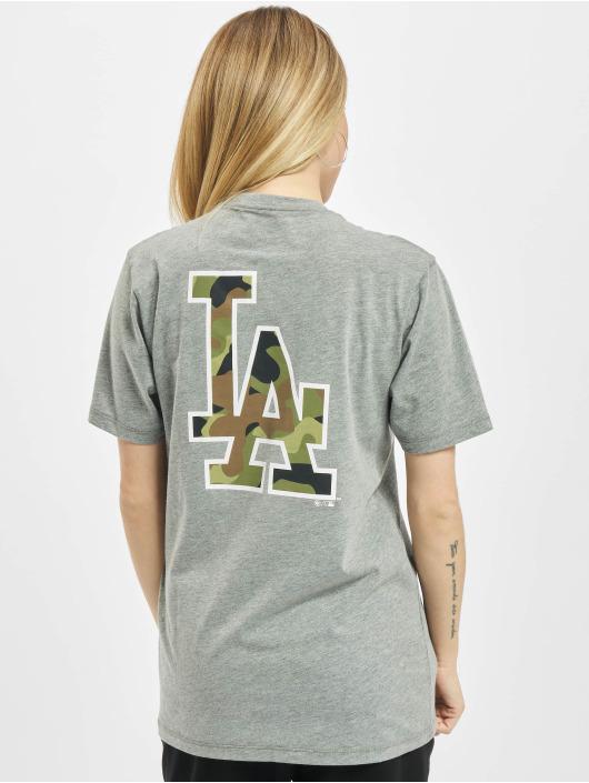 47 Brand T-Shirt MLB Dodgers Backer Splitter grau