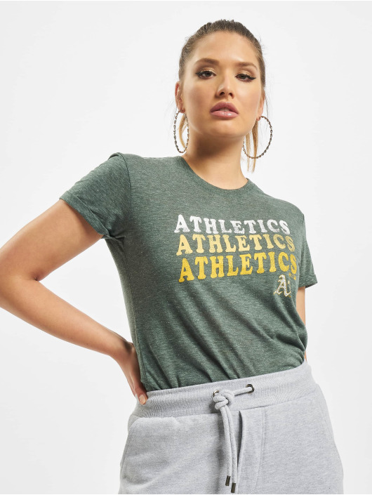 47 Brand T-Shirt Mlb Athletics Trio Match Triblend Hero grün
