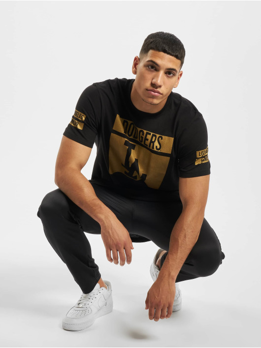 47 Brand T-Shirt MLB Dodgers Dropback Lux schwarz