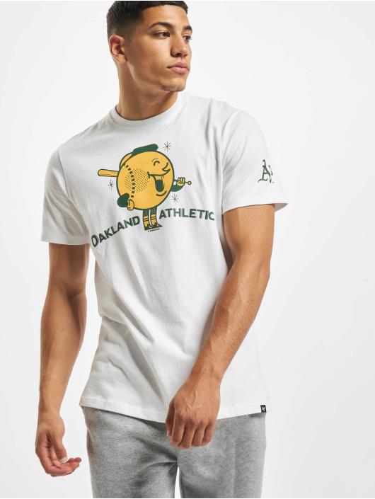 47 Brand T-Shirt Oakland Athletics Global Artis Conzo Stacks weiß
