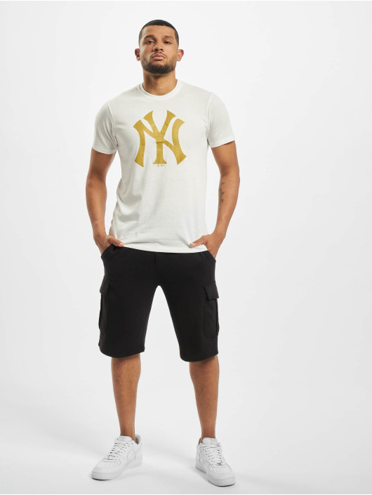 47 Brand T-Shirt Mlb Yankees Metallic Hook Splitter weiß