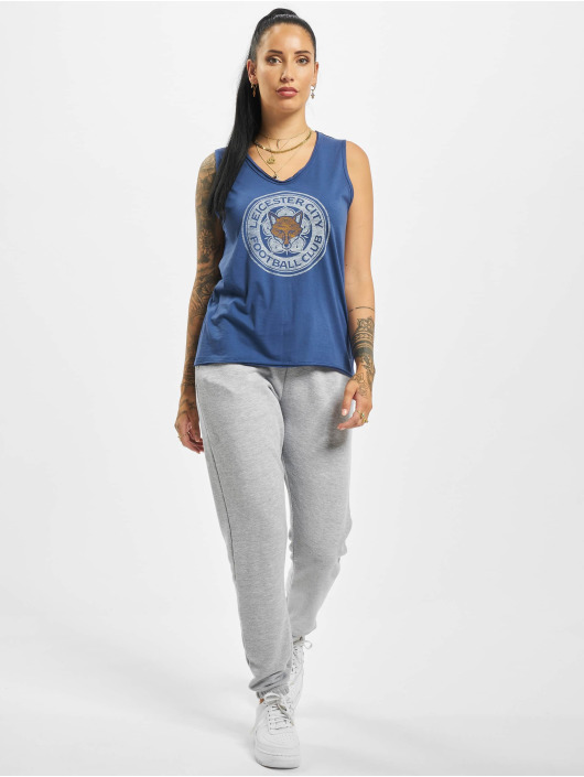 47 Brand Tank Tops EPL Leicester City Fader Letter blau