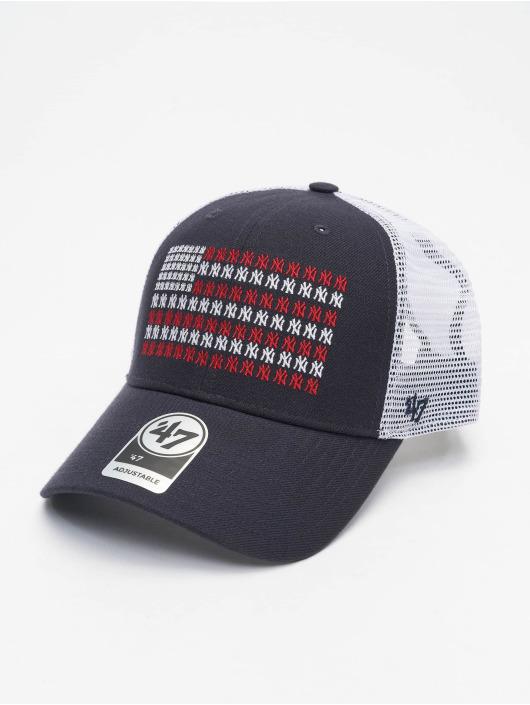 47 Brand Trucker Cap New York Yankees Americana Banner MVP blau