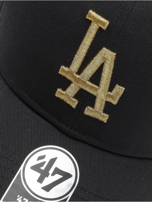 47 Brand Trucker Cap MLB Los Angeles Dodgers Branson Metallic MVP schwarz