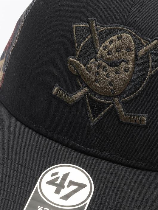 47 Brand Trucker Cap NHL Anaheim Ducks Back Switch MVP schwarz