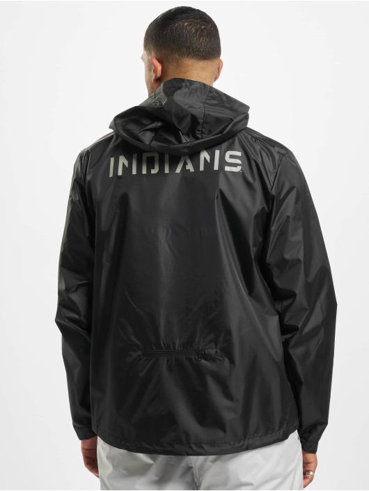 47 Brand Übergangsjacke MLB Indians Forward Rain Shell schwarz