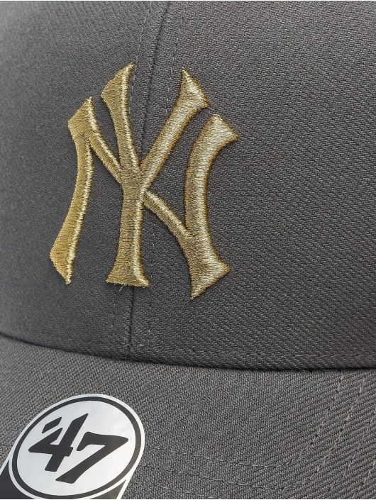 '47 Snapback Cap MLB New York Yankees Metallic Snap '47 grau