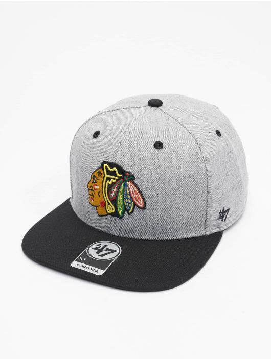 '47 Snapback Cap NHL Chicago Blackhawks Storm Cloud TT DP grau