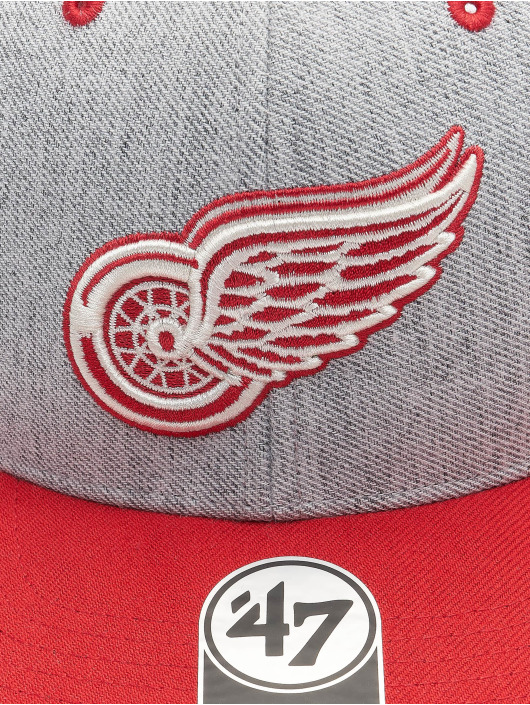 '47 Snapback Cap NHL Detroit Red Wings Storm Cloud TT DP grau