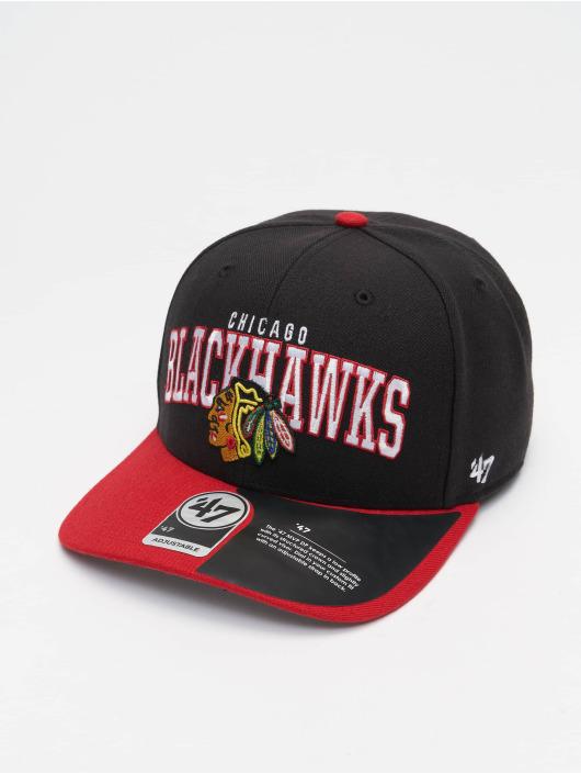 '47 Snapback Cap NHL Chicago Blackhawks Mccaw '47 schwarz