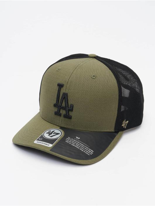 '47 Trucker Cap MLB Los Angeles Dodgers Grid Lock Mesh '47 grün