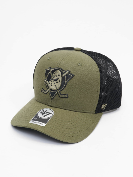 '47 Trucker Cap NHL Anaheim Ducks Grid Lock Mesh DP grün