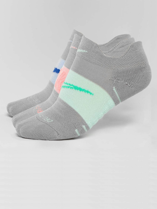 Nike Performance Chaussettes Dry Cushion Low Training 3 Pack gris