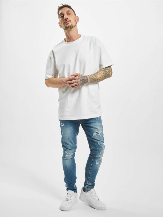 Aarhon Облегающие джинсы Ripped синий
