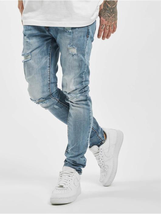Aarhon Облегающие джинсы Destroyed синий