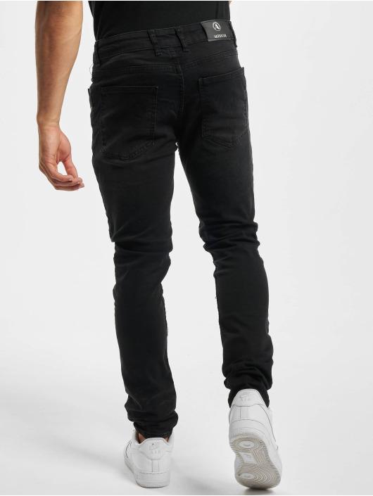 Aarhon Облегающие джинсы Ripped черный