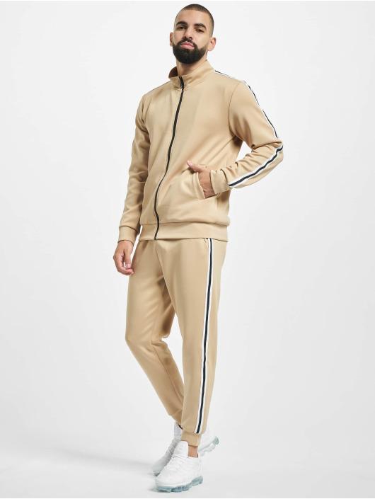 Aarhon Anzug Stripe beige