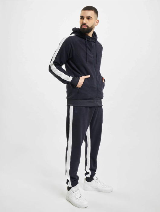 Aarhon Anzug Fleece Stripe blau