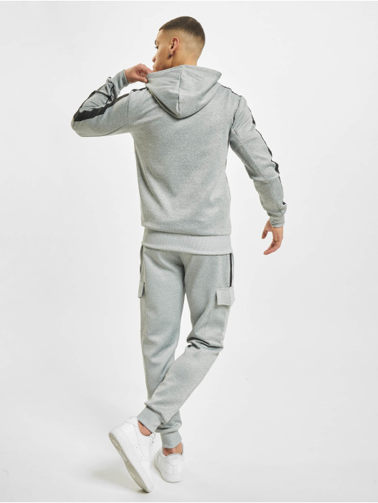 Aarhon Anzug Fleece Tape grau