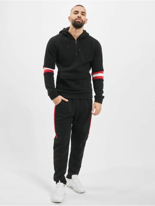 Aarhon Anzug Stripes schwarz