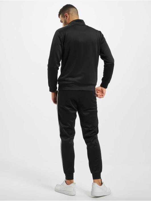 Aarhon Anzug Stripe schwarz