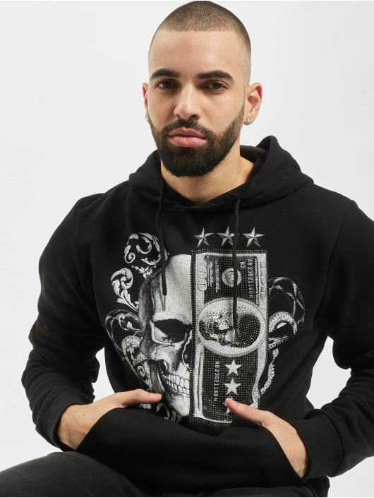 Aarhon Bluzy z kapturem Skull II czarny