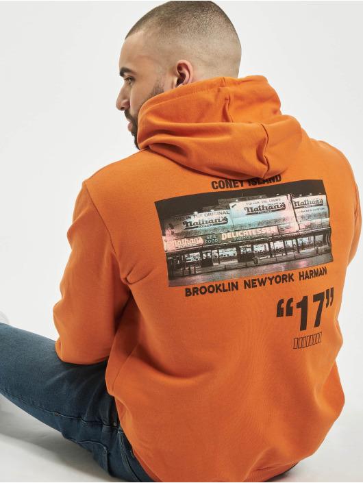 """Aarhon Bluzy z kapturem """"17"""" pomaranczowy"""