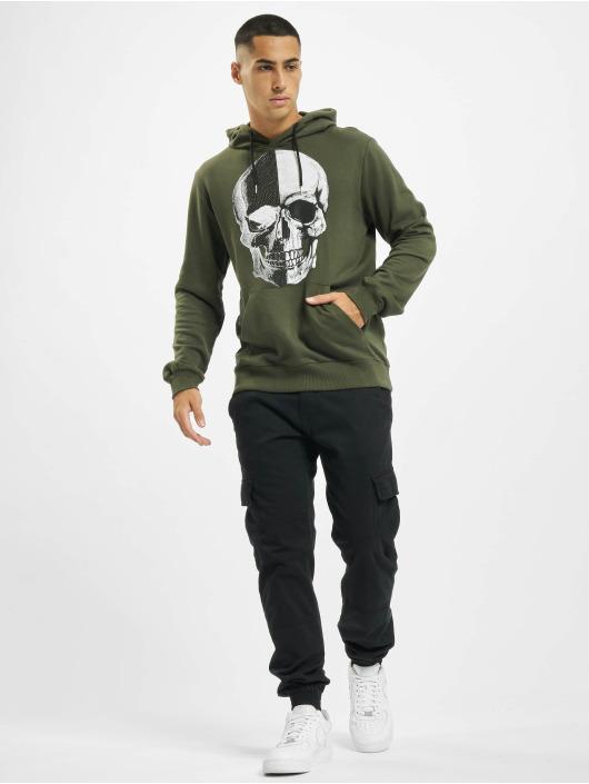 Aarhon Hoody Skull khaki