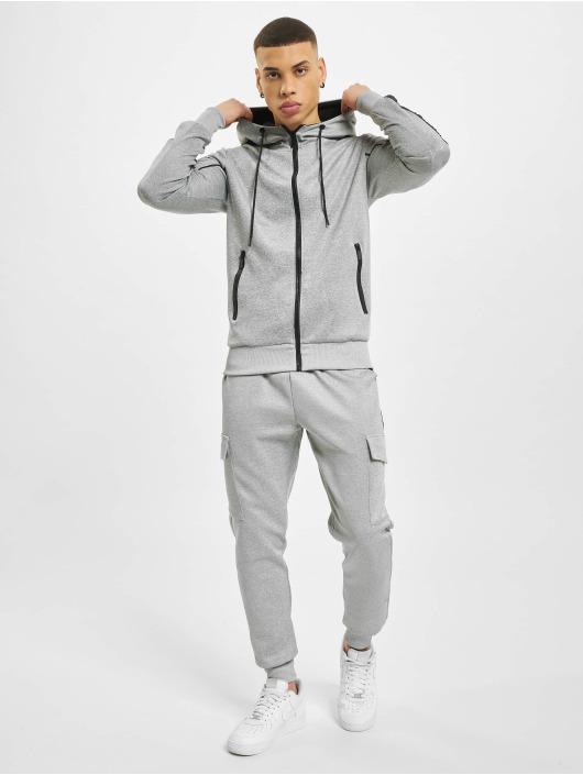 Aarhon Joggingsæt Fleece Tape grå