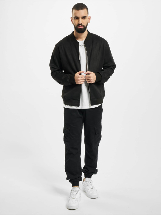 Aarhon Kurtki przejściowe Fake Velours Leather czarny