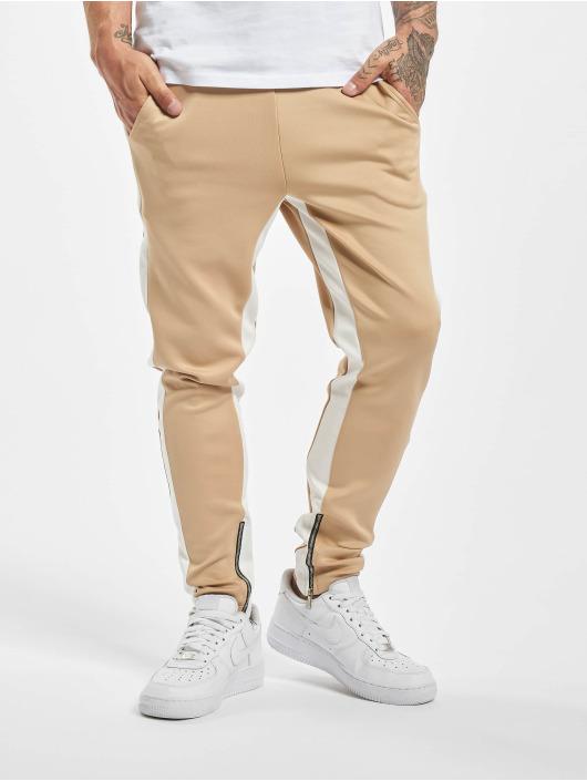 Aarhon Látkové kalhoty Contrast béžový