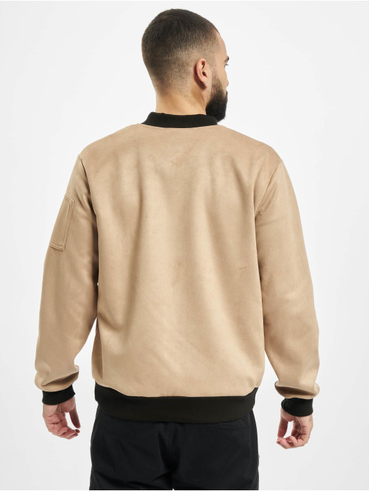 Aarhon Lightweight Jacket Fake Velours Leather beige