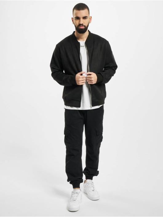 Aarhon Lightweight Jacket Fake Velours Leather black