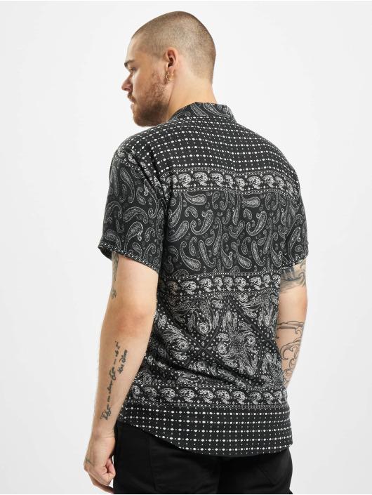Aarhon overhemd Paisley zwart