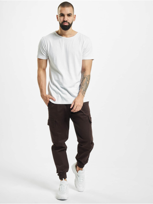 Aarhon Pantalon cargo Zip brun