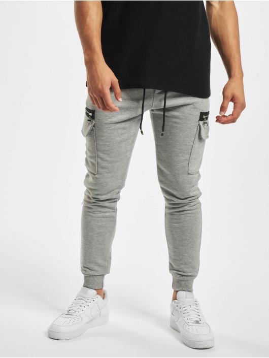 Aarhon Pantalon cargo Zipper gris
