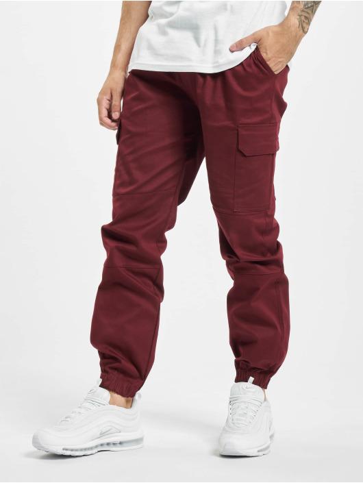 Aarhon Pantalon cargo Carlo rouge
