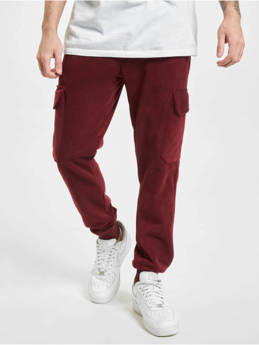 Aarhon Pantalon cargo Fleece rouge