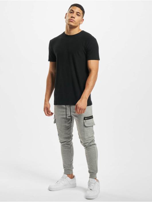 Aarhon Pantalone Cargo Zipper grigio
