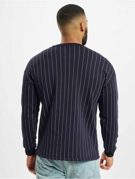 Aarhon Pullover Pinstripe blau