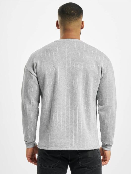 Aarhon Pullover Pinstripe grau